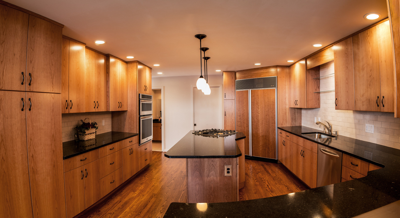Kitchen renovation using natural cherry cabinets, Irondequoit
